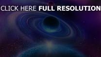 planète cercle bleu