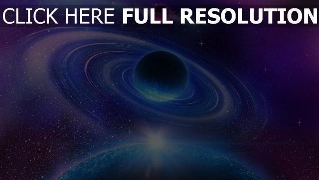 fond d'écran hd planète cercle bleu