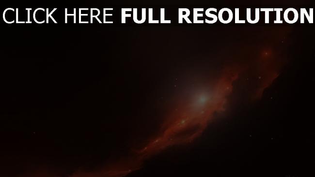fond d'écran hd nébuleuse rouge éclatant