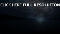 silhouette amas d'étoiles nuit