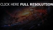 galaxie noyau gigantesque