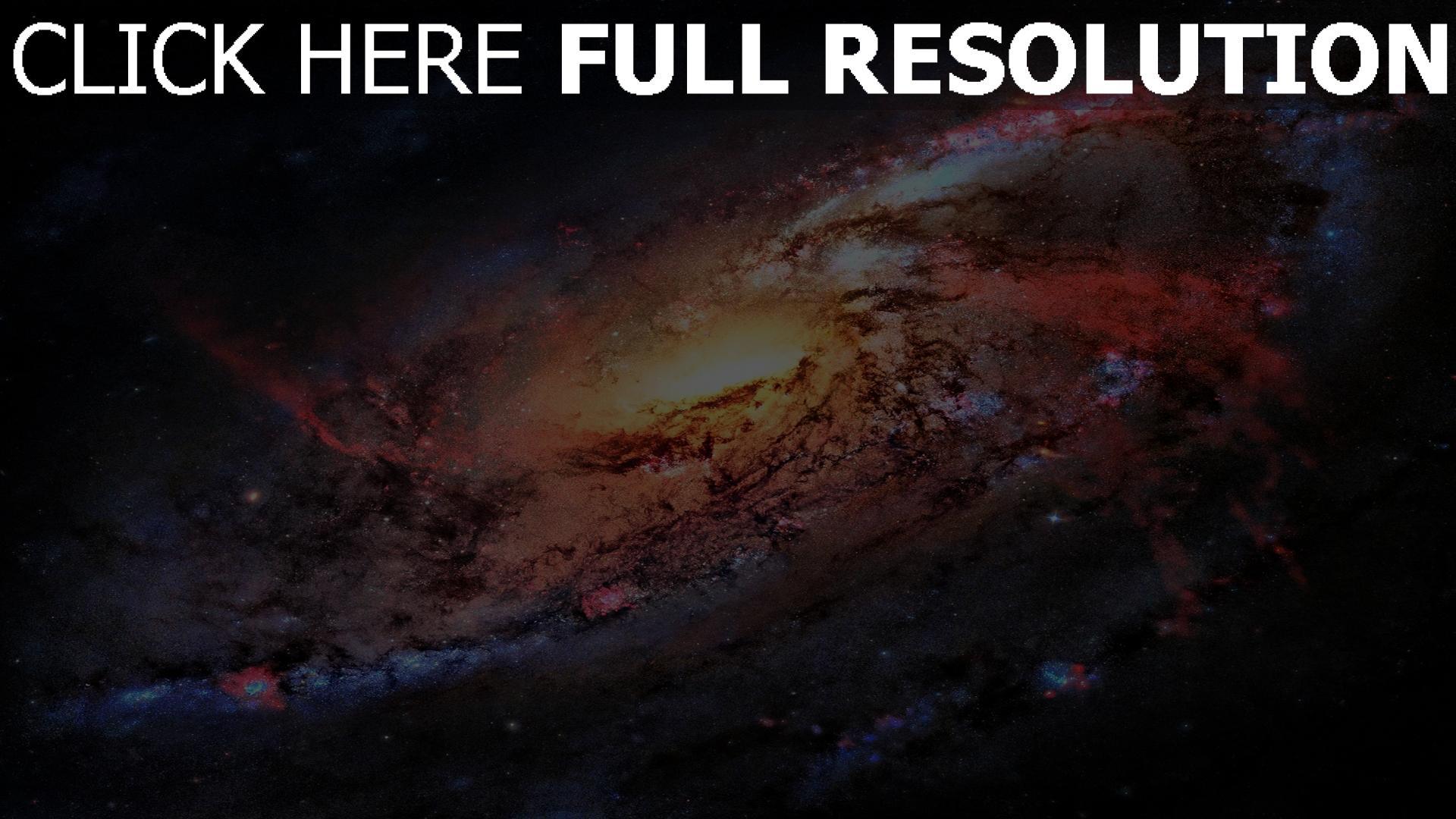 fond d'écran 1920x1080 galaxie noyau gigantesque