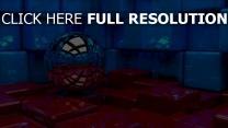 cube sphère réflexion surface brillante