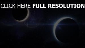 éclipse planète espace profond