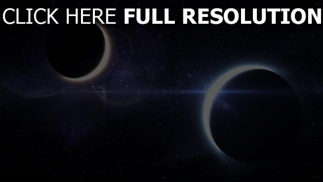 fond d'écran hd éclipse planète espace profond