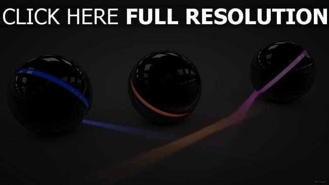 fond d'écran hd sphère neon lumière surface brillante