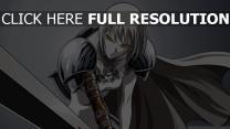 claymore épée clare yeux de prédateurs