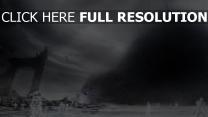 fantôme monstre foncé ruines
