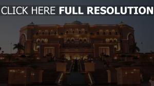 abou dabi emirates palace vue de face