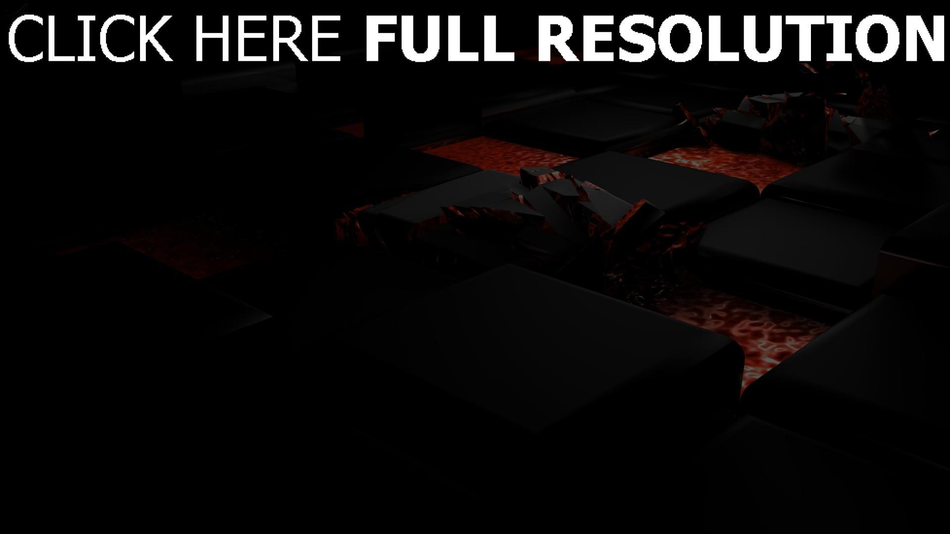 fond d'écran 1920x1080 carré foncé destruction