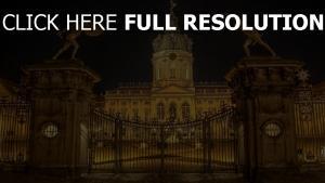 charlottenburg palace berlin porte nuit