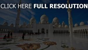 mosquée cheikh zayed cour magnifique
