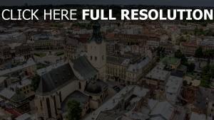 lviv cathédrale vue aérienne mégalopole