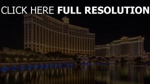 bellagio hôtel rétro-éclairage las vegas