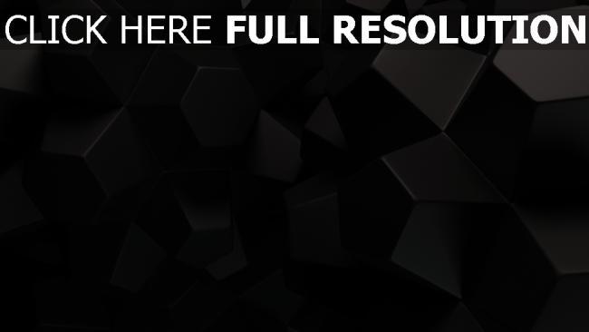 fond d'écran hd hexaèdre figure foncé