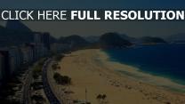 copacabana vue aérienne plage magnifique