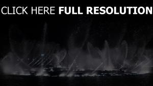 dubai fontaine rétro-éclairage