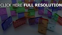domino rectangle transparent multicolore