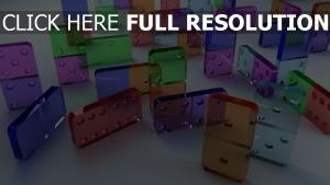 domino rectangle transparent multicolore