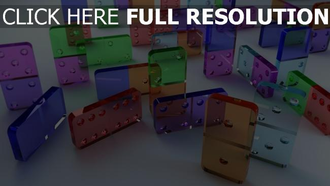 fond d'écran hd domino rectangle transparent multicolore