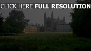 king's college vue de face londres