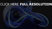 sphère néon figure surface brillante