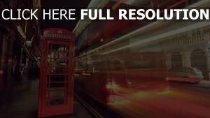 rue rouge bus nuit londres