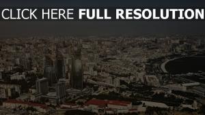 bakou vue aérienne azerbaïdjan