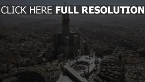 mecque vue aérienne kaaba magnifique