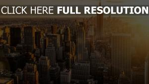 new york coucher du soleil gratte-ciel