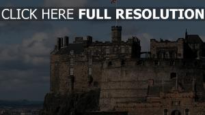 edinburgh château gros plan