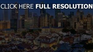 singapour vue d'en haut mégalopole