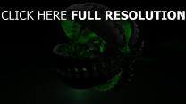 moteur sphère vert