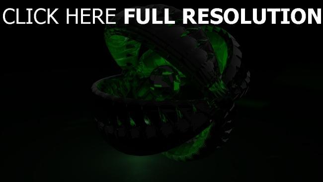 fond d'écran hd moteur sphère vert