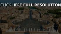 place saint-pierre vue aérienne vatican magnifique