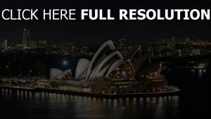 opéra rétro-éclairage magnifique sydney