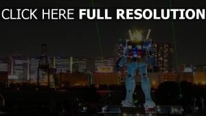 robot lumineux tokyo laser