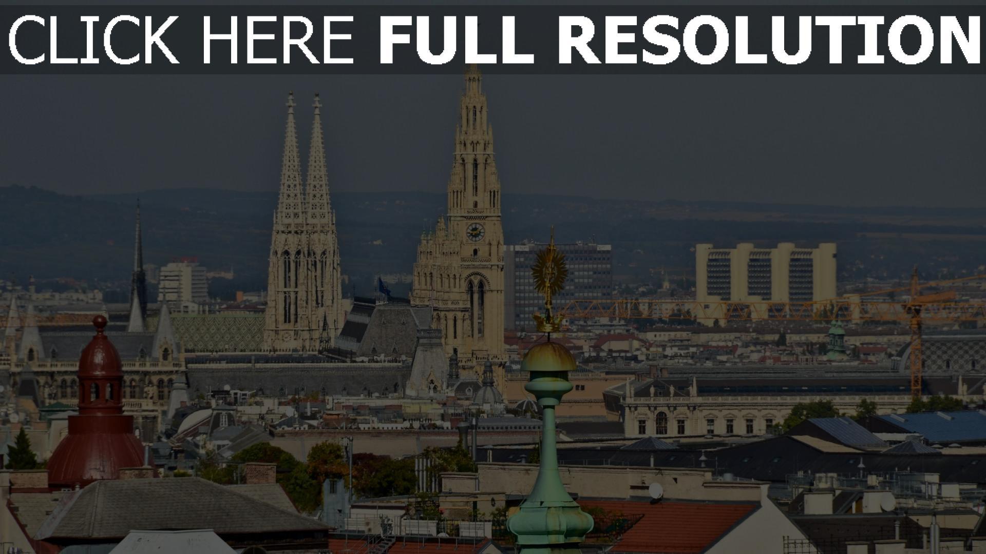 fond d'écran 1920x1080 saint-ètienne cathédrale vue d'en haut vienne