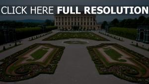 château de schönbrunn vienne parterre vue de face