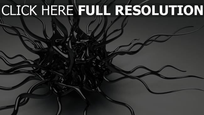 fond d'écran hd tentacules surface brillante étranger