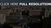 place statue ukraine vue d'en haut