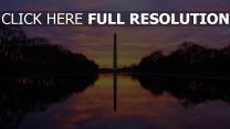 le washington monument obélisque états-unis soirée