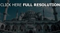 mosquée bleue vue de face istanbul