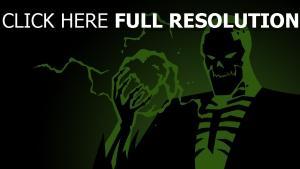 squelette vert énergie terrible