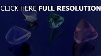 cristal surface brillante réflexion