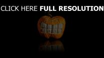 citrouille-lanterne dents halloween