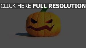 citrouille-lanterne orange halloween