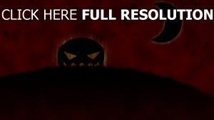 citrouille-lanterne halloween rouge ciel