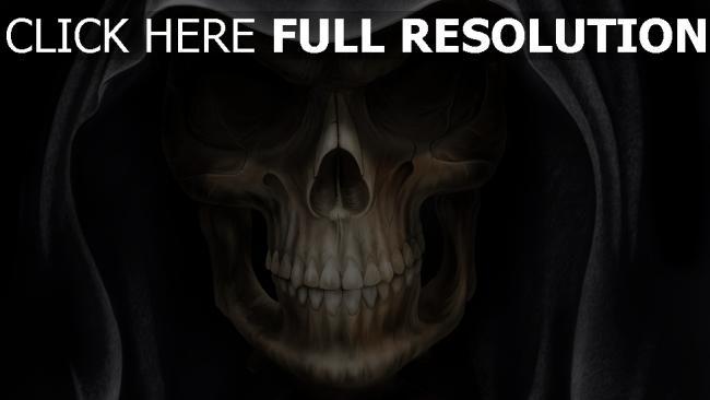 fond d'écran hd mort visage gros plan halloween