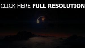 spirale planète météorite